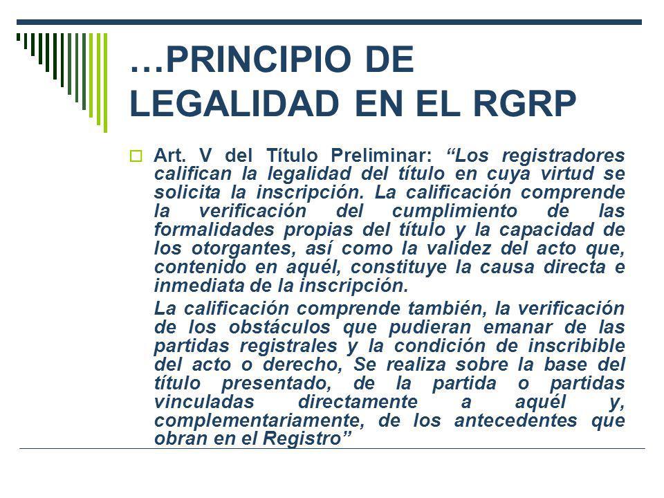 …PRINCIPIO DE LEGALIDAD EN EL RGRP