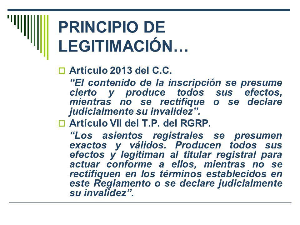 PRINCIPIO DE LEGITIMACIÓN…