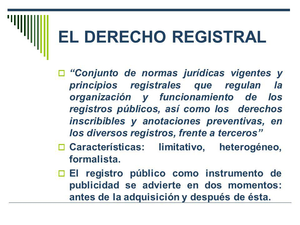 EL DERECHO REGISTRAL