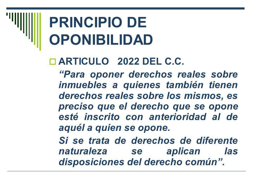 PRINCIPIO DE OPONIBILIDAD
