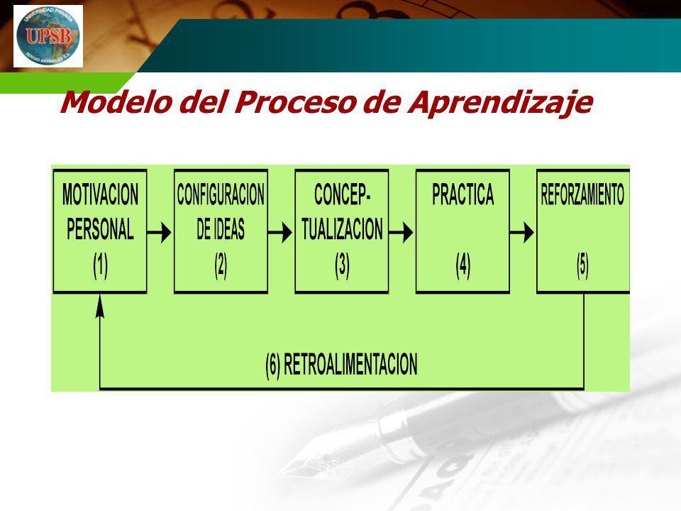 Modelo del Proceso de Aprendizaje