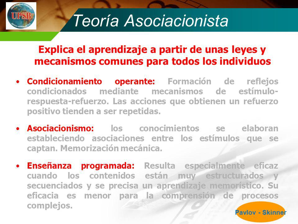 Teoría Asociacionista