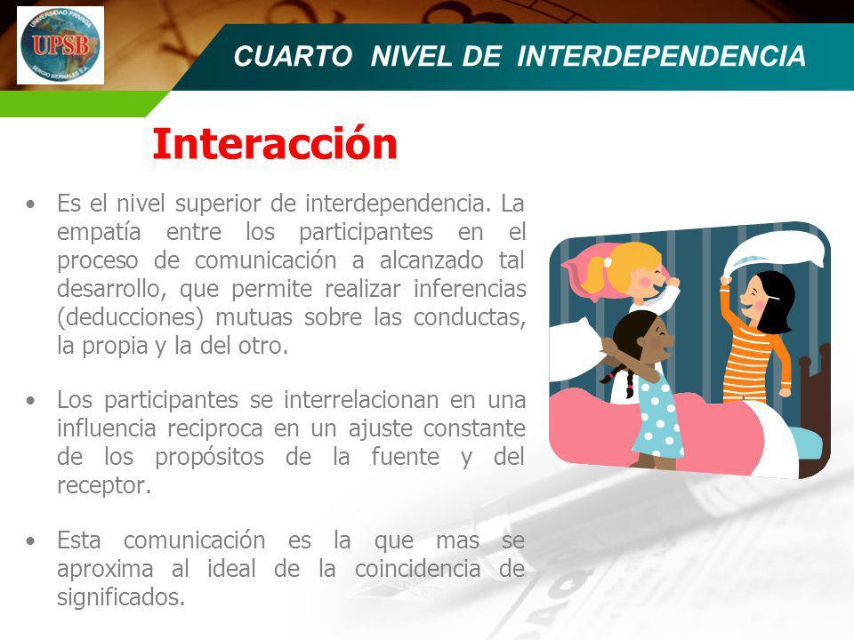 CUARTO NIVEL DE INTERDEPENDENCIA