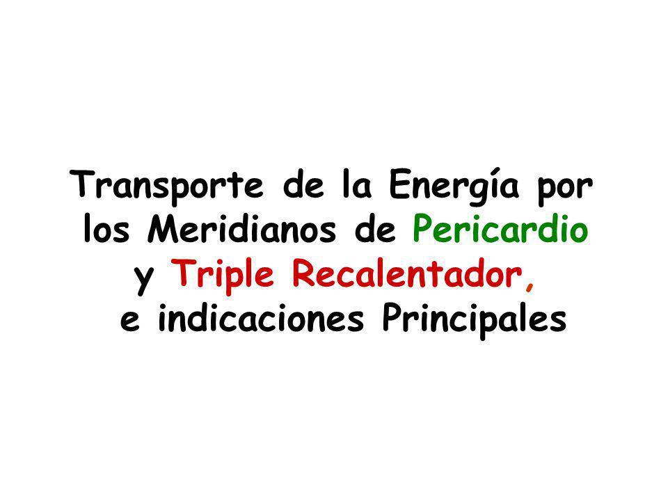 Transporte de la Energía por los Meridianos de Pericardio y Triple Recalentador, e indicaciones Principales