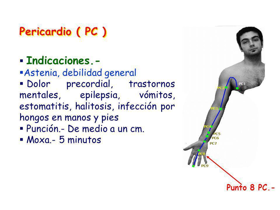 Pericardio ( PC ) Indicaciones.- Astenia, debilidad general