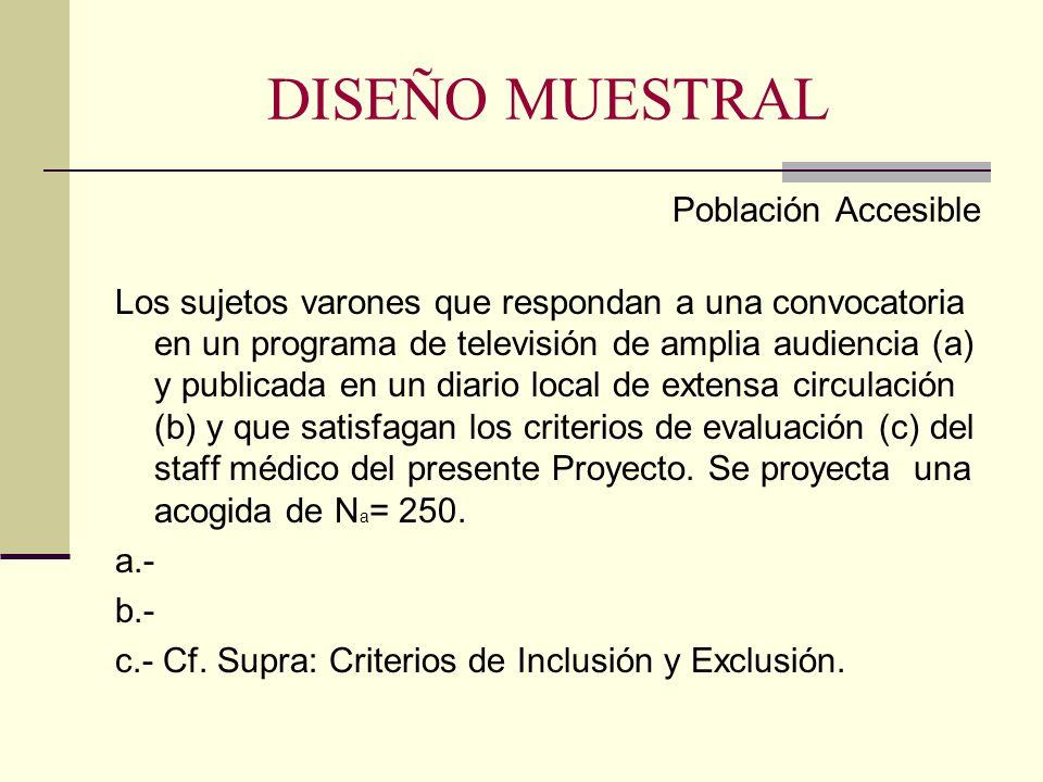 DISEÑO MUESTRAL Población Accesible