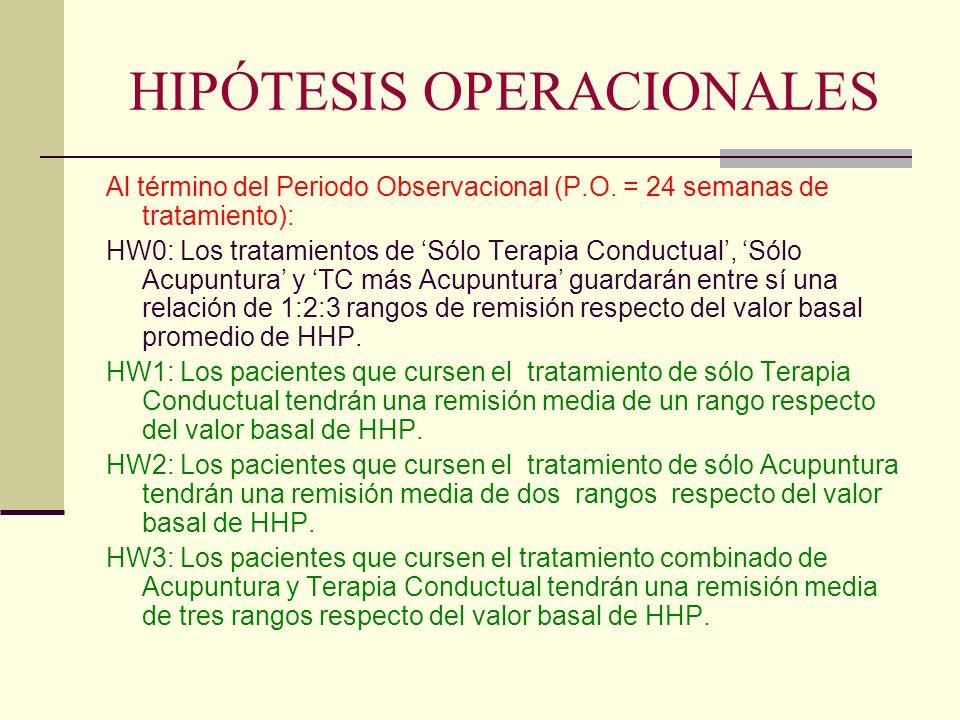 HIPÓTESIS OPERACIONALES