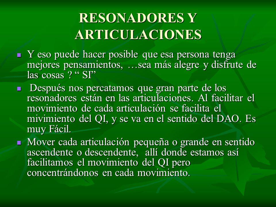 RESONADORES Y ARTICULACIONES