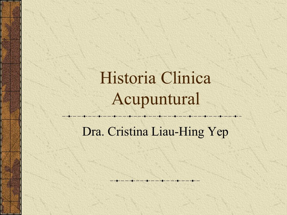 Historia Clinica Acupuntural