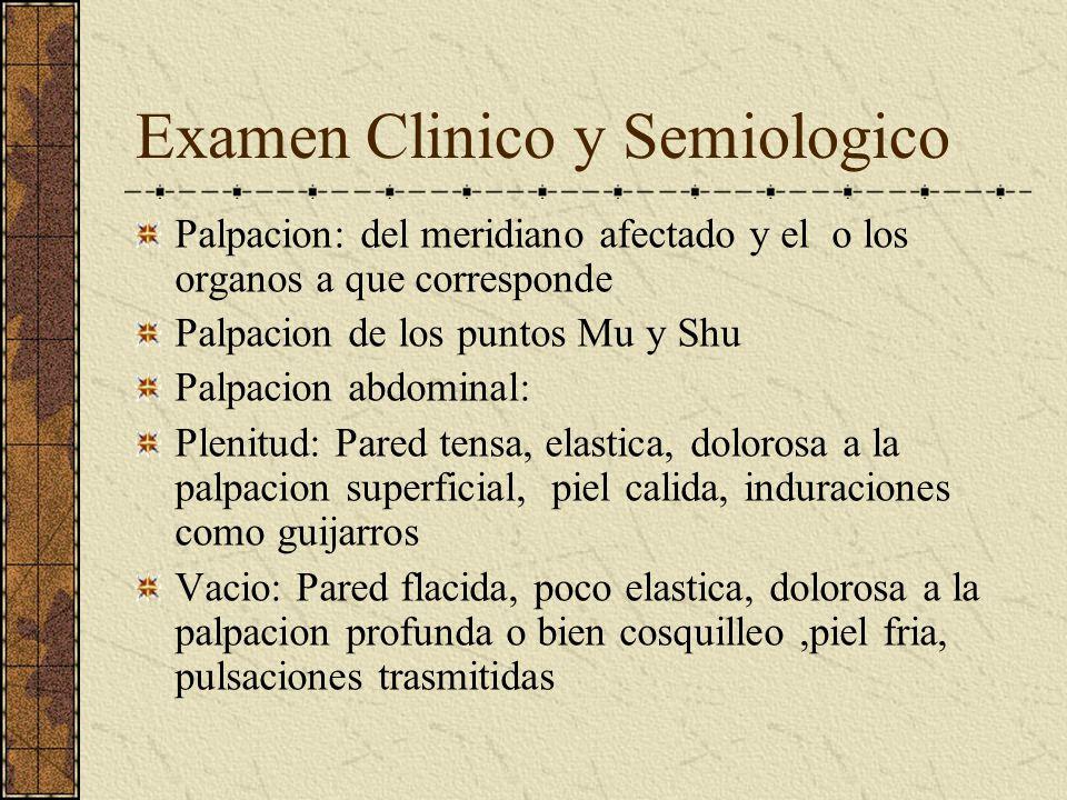 Examen Clinico y Semiologico