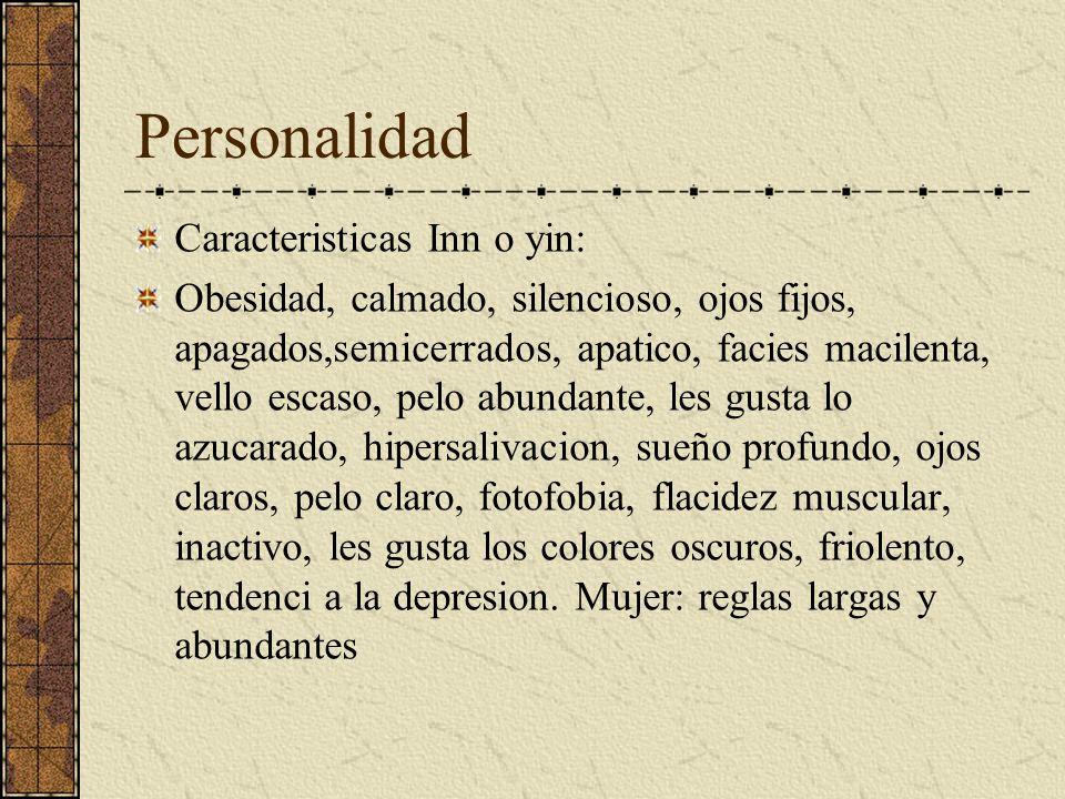 Personalidad Caracteristicas Inn o yin: