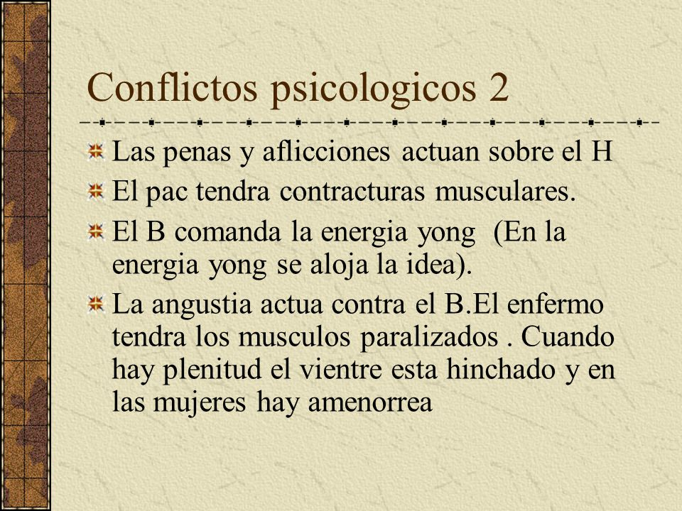 Conflictos psicologicos 2