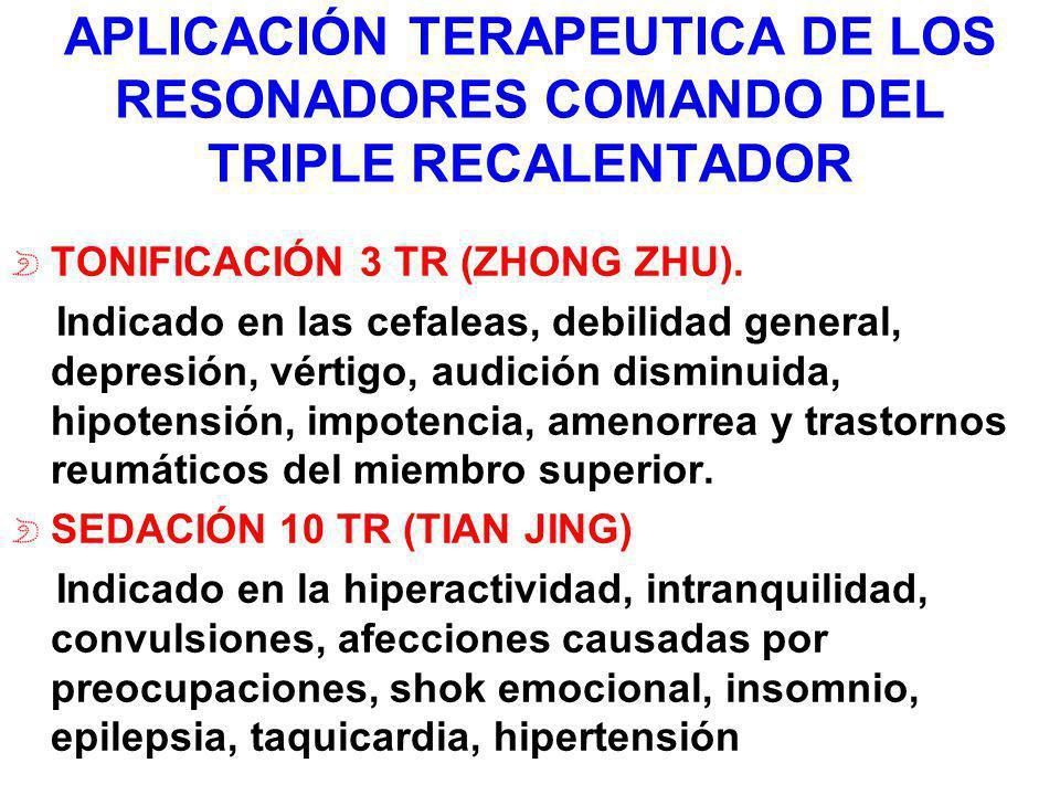 APLICACIÓN TERAPEUTICA DE LOS RESONADORES COMANDO DEL TRIPLE RECALENTADOR