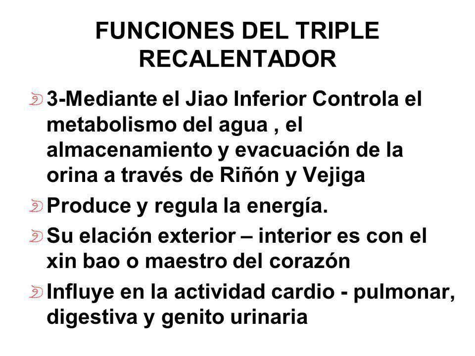 FUNCIONES DEL TRIPLE RECALENTADOR
