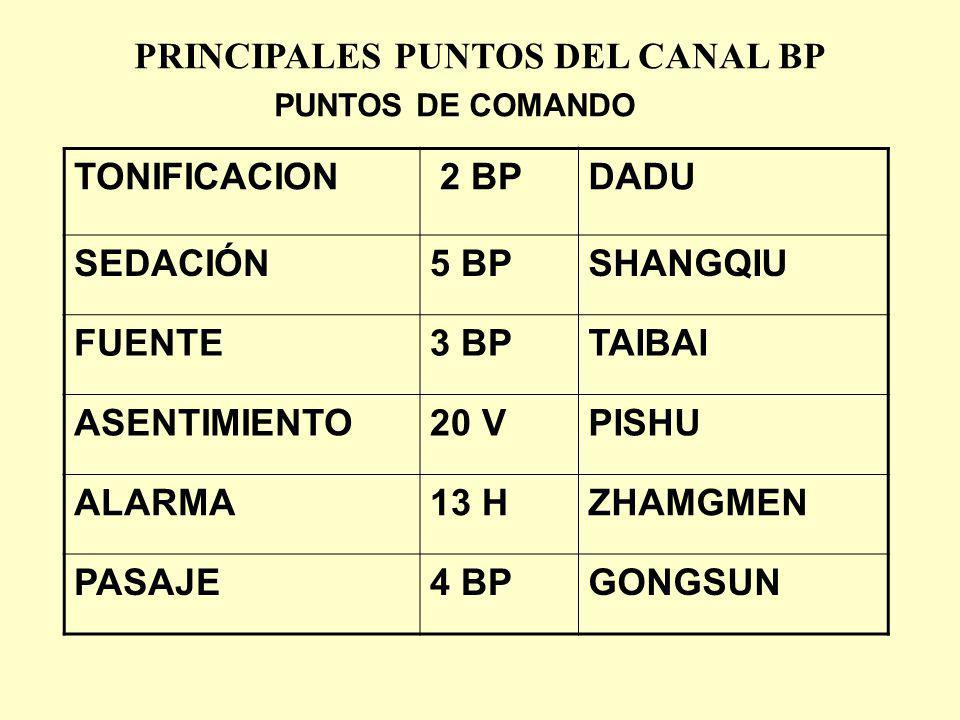 PRINCIPALES PUNTOS DEL CANAL BP