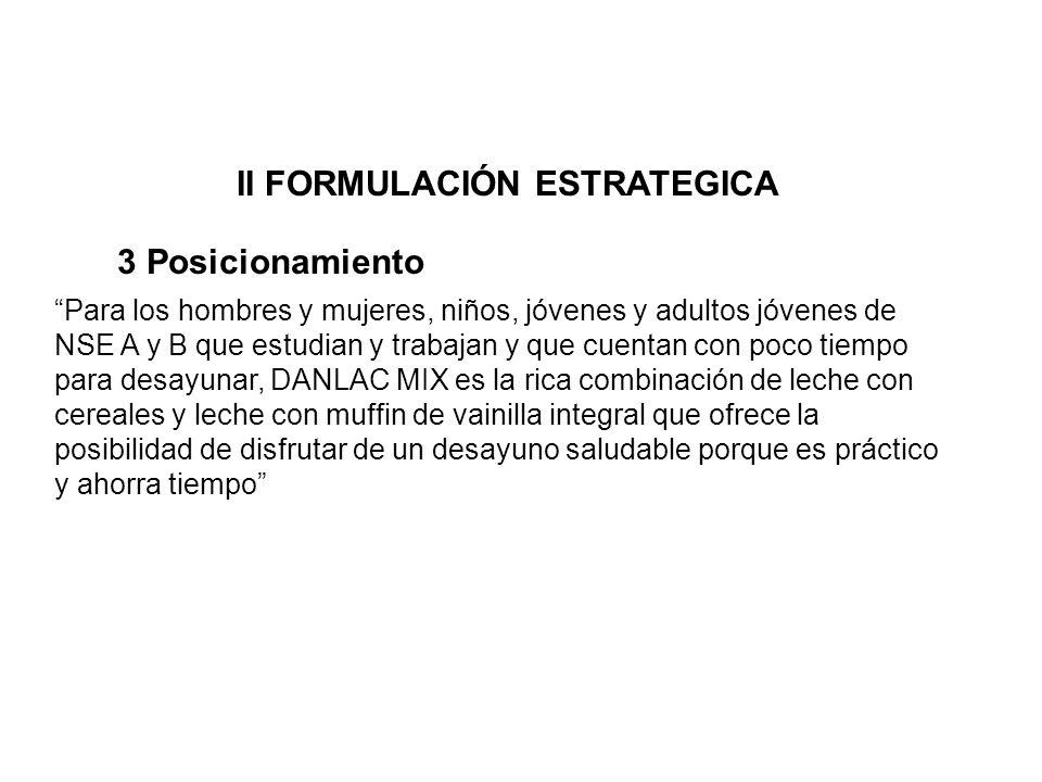 II FORMULACIÓN ESTRATEGICA