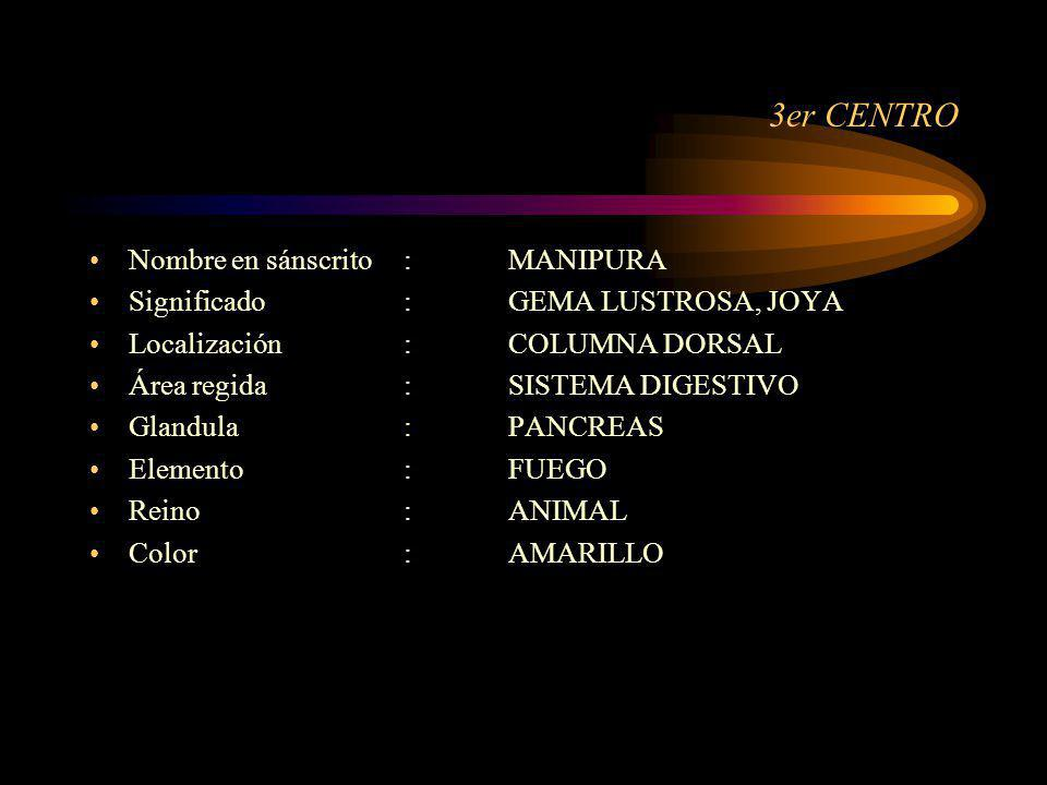 3er CENTRO Nombre en sánscrito : MANIPURA