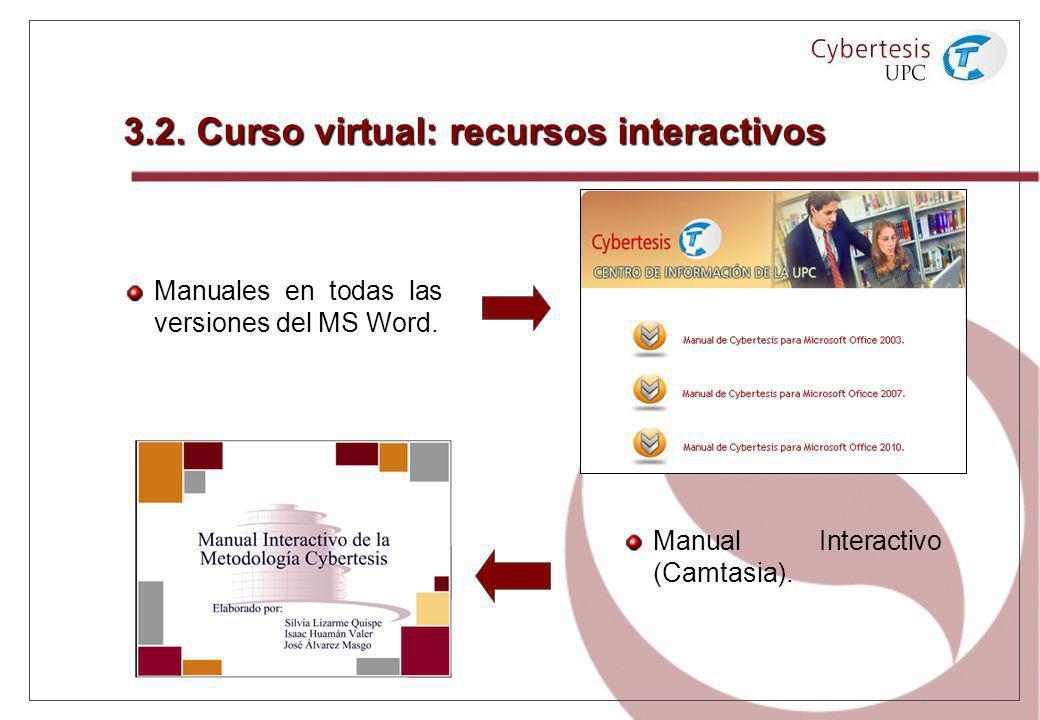 3.2. Curso virtual: recursos interactivos
