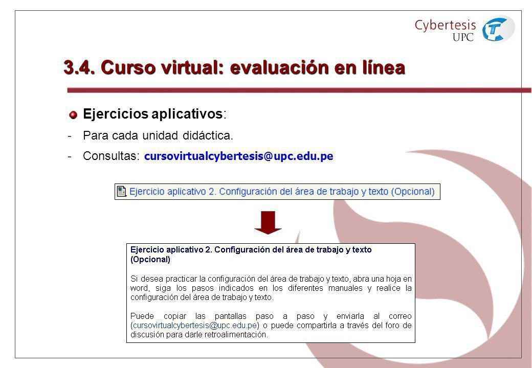 3.4. Curso virtual: evaluación en línea