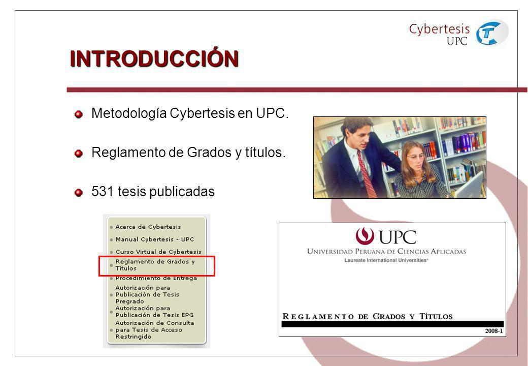 INTRODUCCIÓN Metodología Cybertesis en UPC.