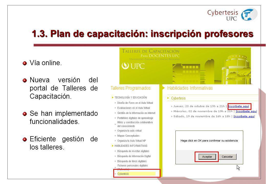 1.3. Plan de capacitación: inscripción profesores