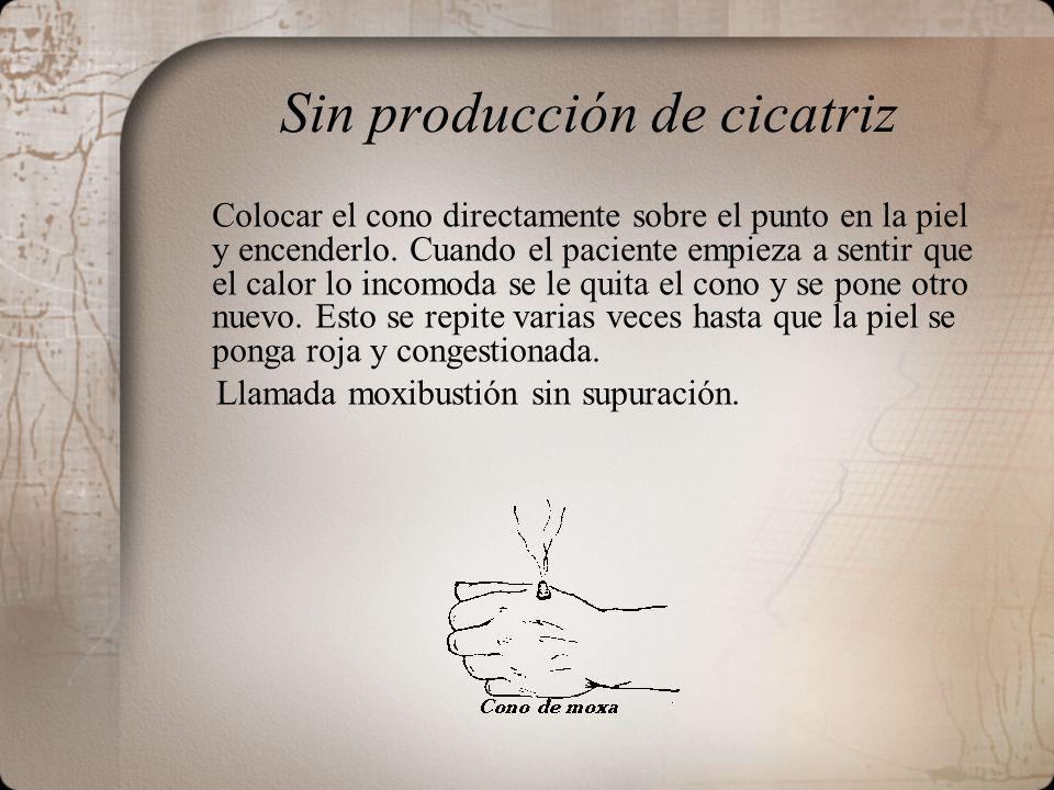 Sin producción de cicatriz