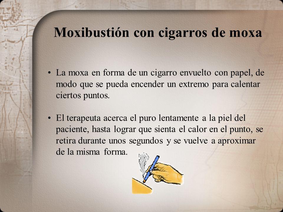 Moxibustión con cigarros de moxa