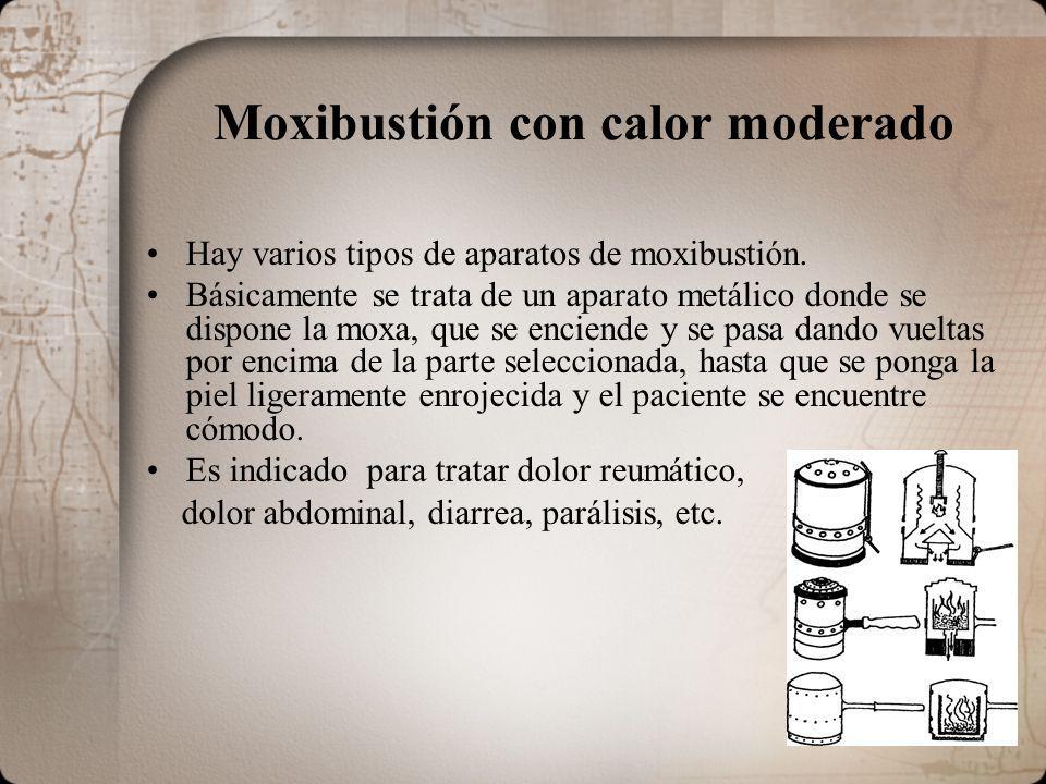 Moxibustión con calor moderado