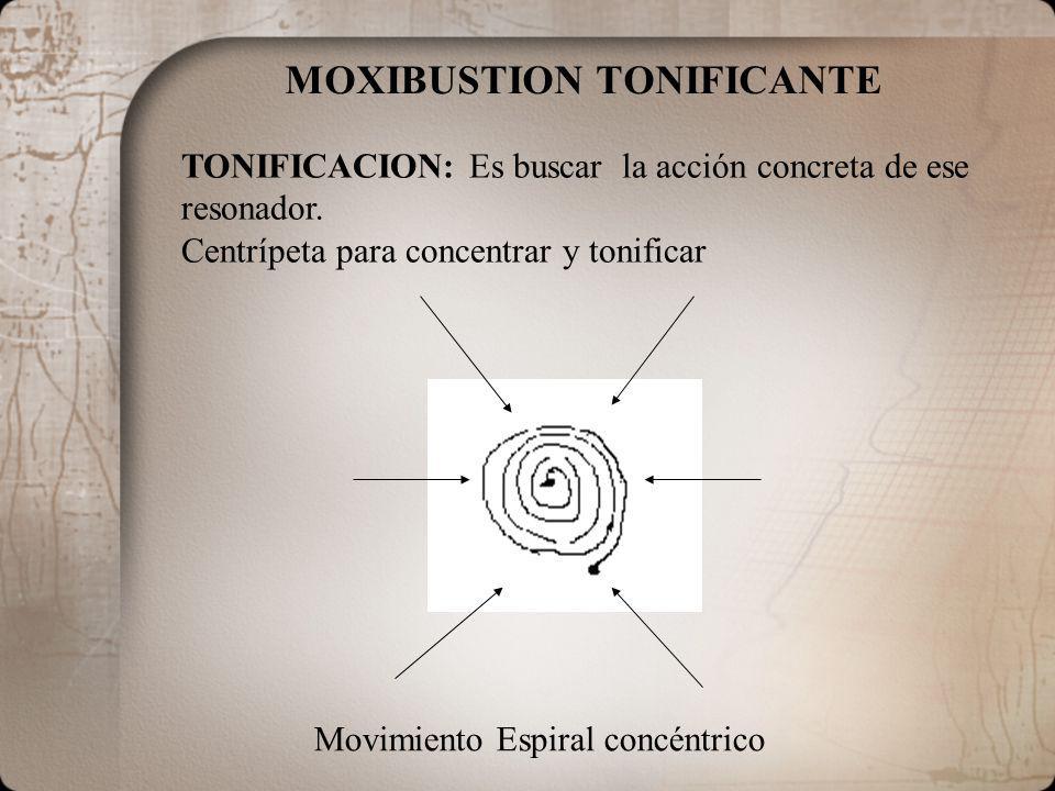 MOXIBUSTION TONIFICANTE
