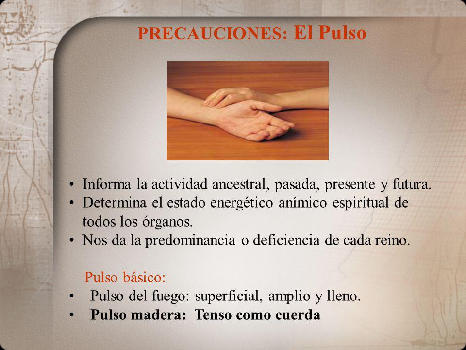 PRECAUCIONES: El Pulso