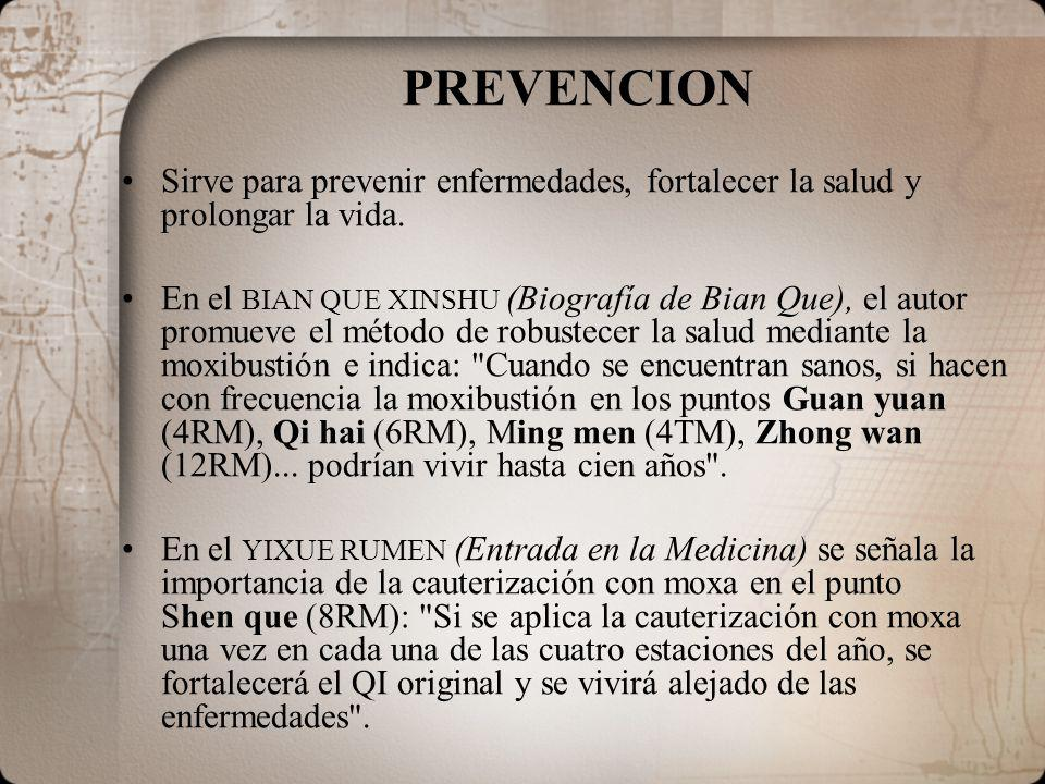 PREVENCION Sirve para prevenir enfermedades, fortalecer la salud y prolongar la vida.