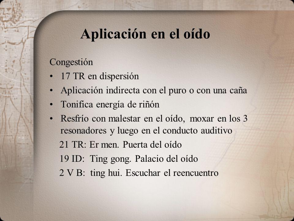 Aplicación en el oído Congestión 17 TR en dispersión