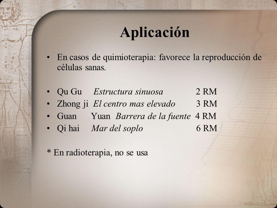 Aplicación En casos de quimioterapia: favorece la reproducción de células sanas. Qu Gu Estructura sinuosa 2 RM.