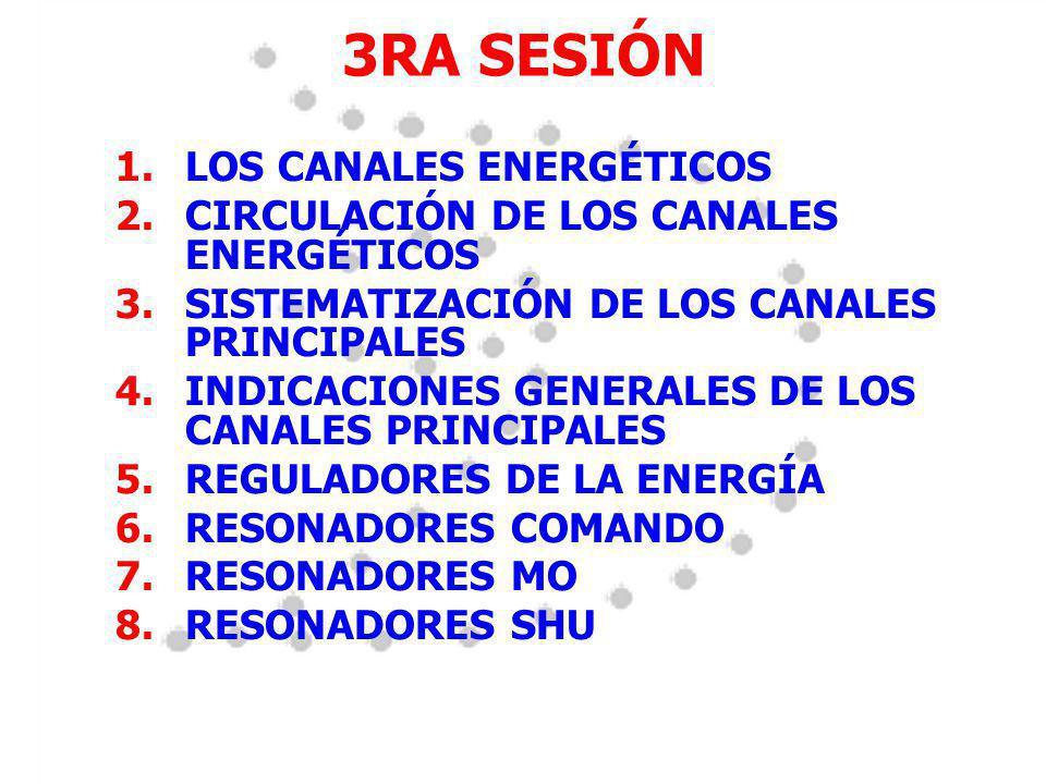 3RA SESIÓN LOS CANALES ENERGÉTICOS
