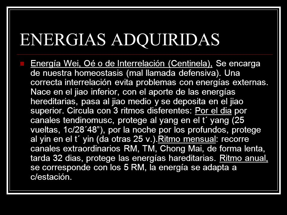 ENERGIAS ADQUIRIDAS