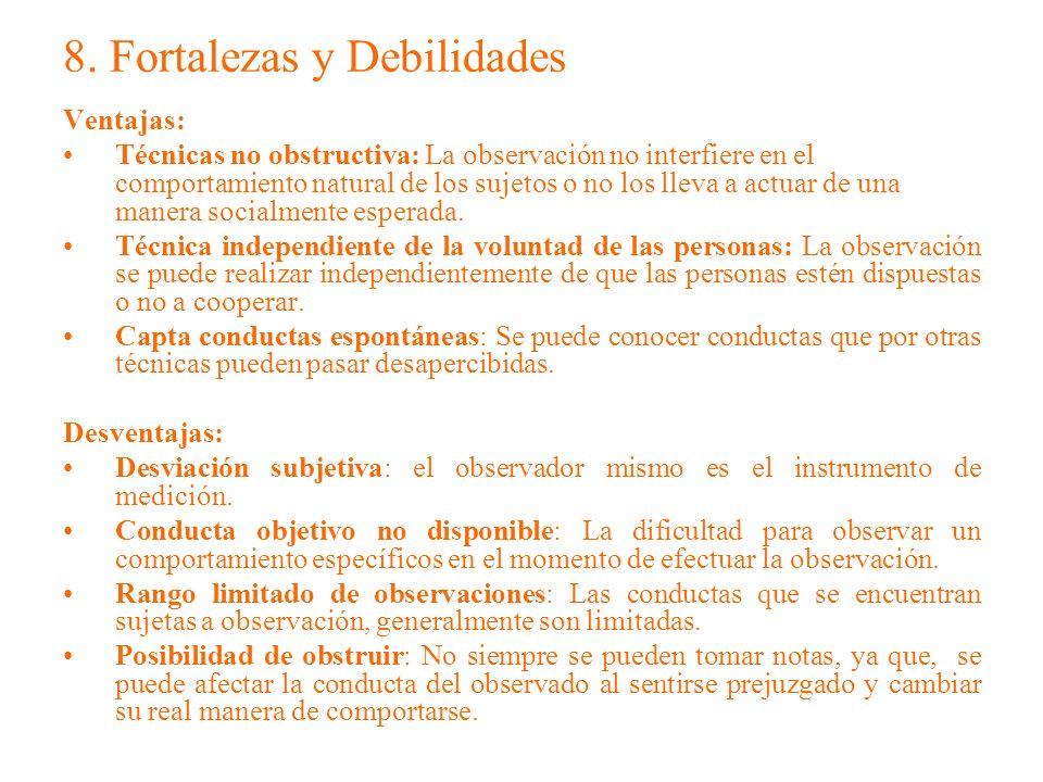 8. Fortalezas y Debilidades