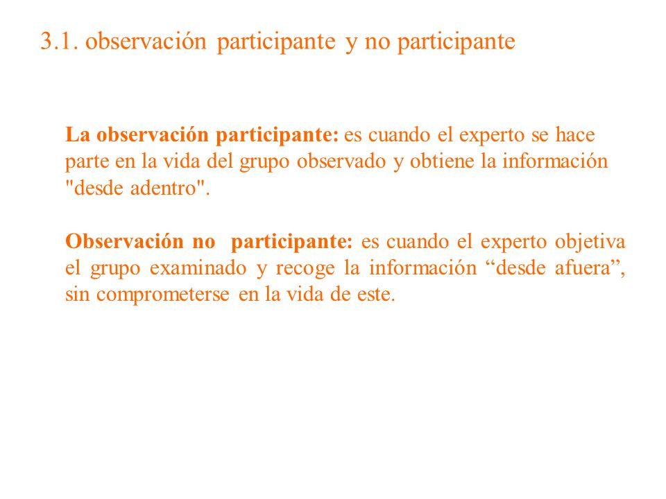 3.1. observación participante y no participante