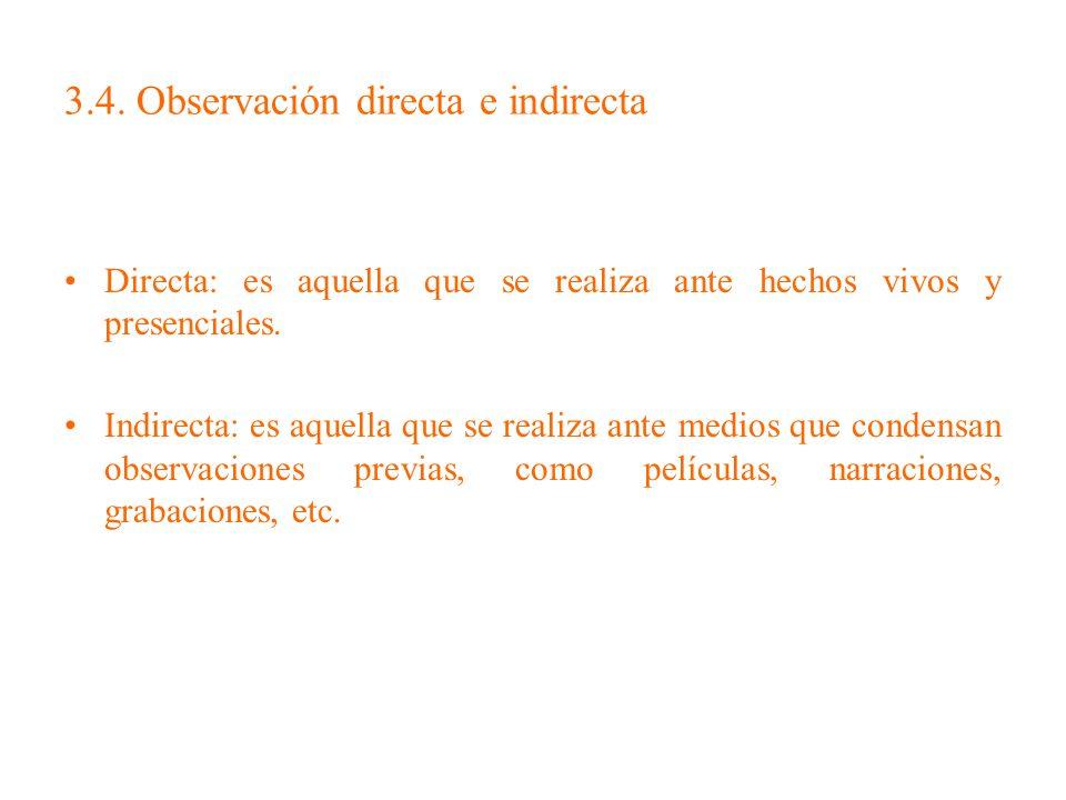 3.4. Observación directa e indirecta
