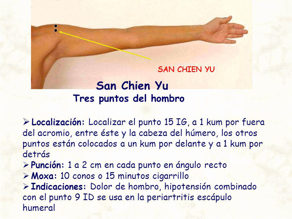 San Chien Yu Tres puntos del hombro