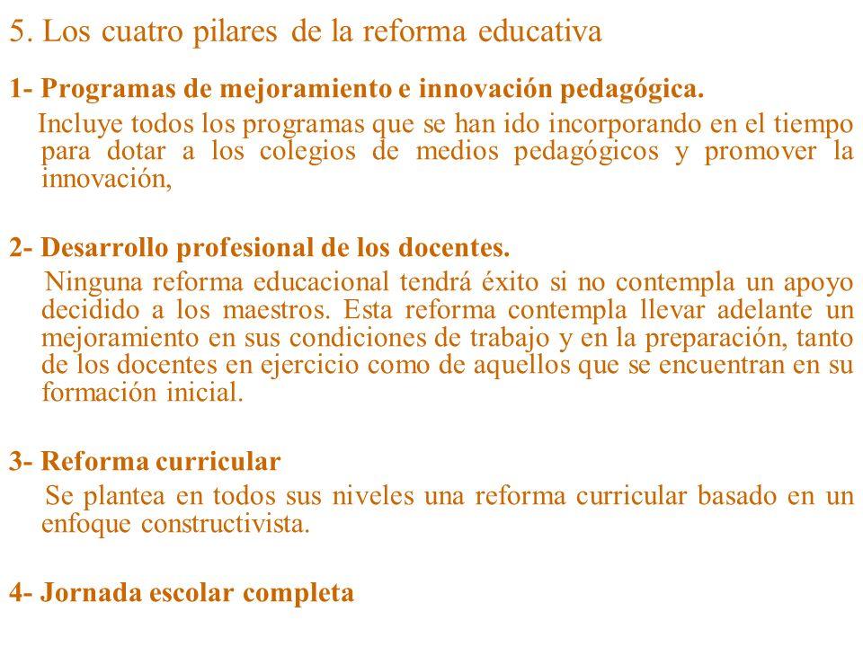 5. Los cuatro pilares de la reforma educativa