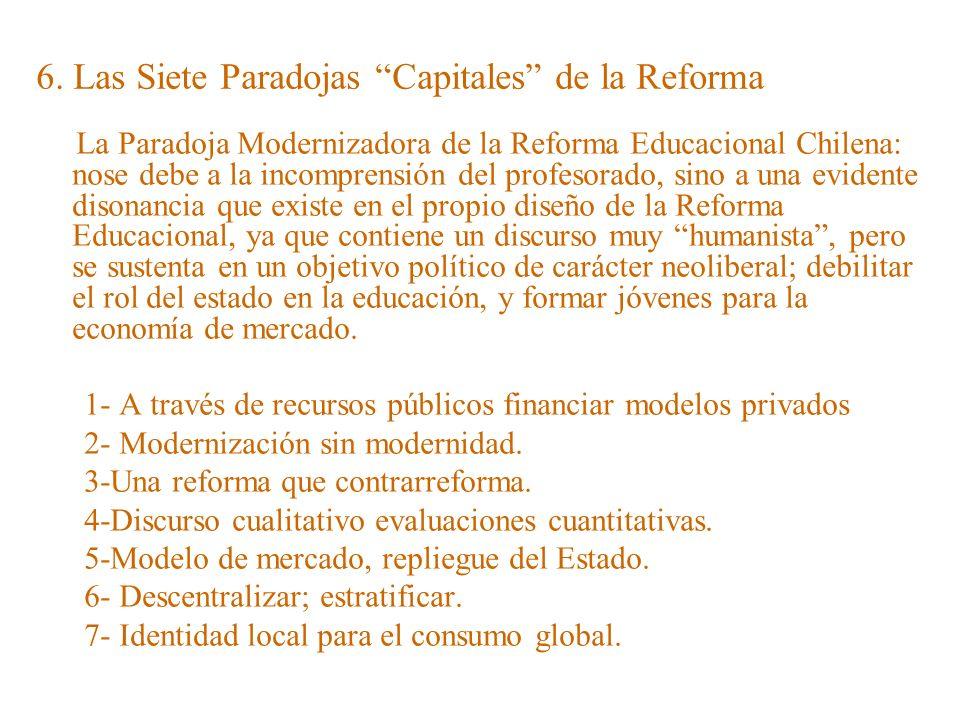 6. Las Siete Paradojas Capitales de la Reforma
