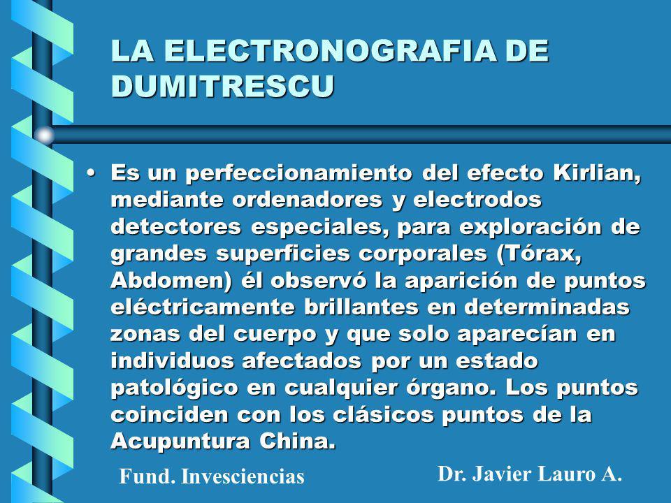 LA ELECTRONOGRAFIA DE DUMITRESCU