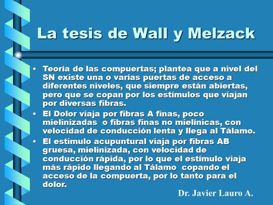 La tesis de Wall y Melzack