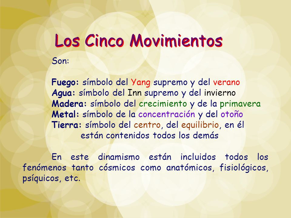 Los Cinco Movimientos Son: