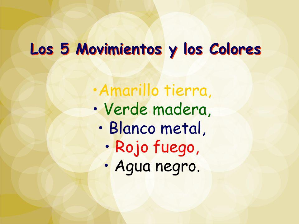 Los 5 Movimientos y los Colores