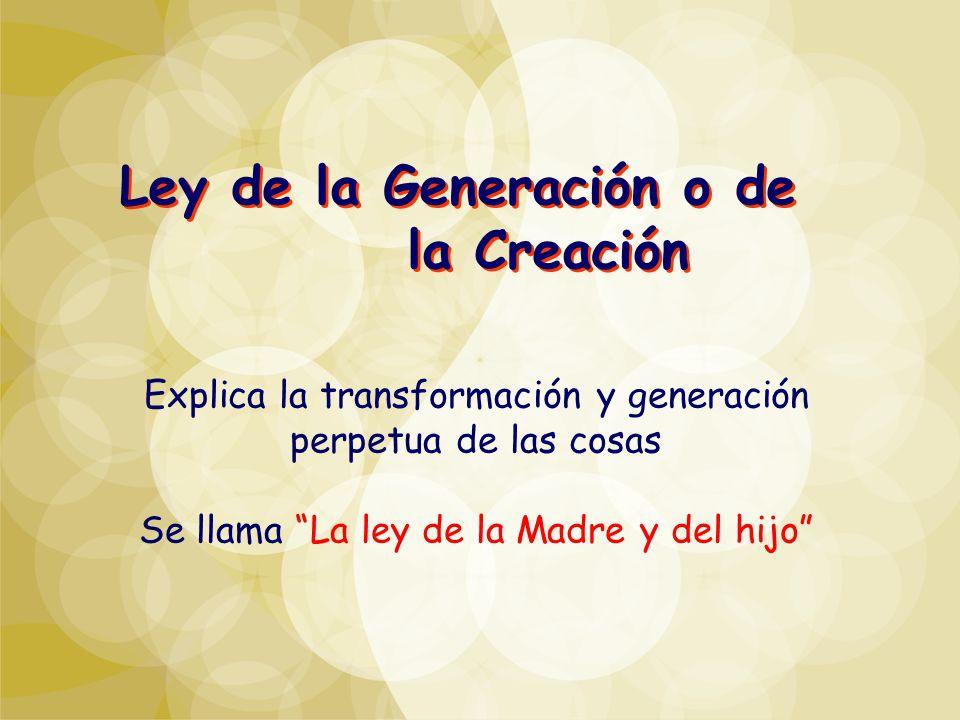 Ley de la Generación o de la Creación