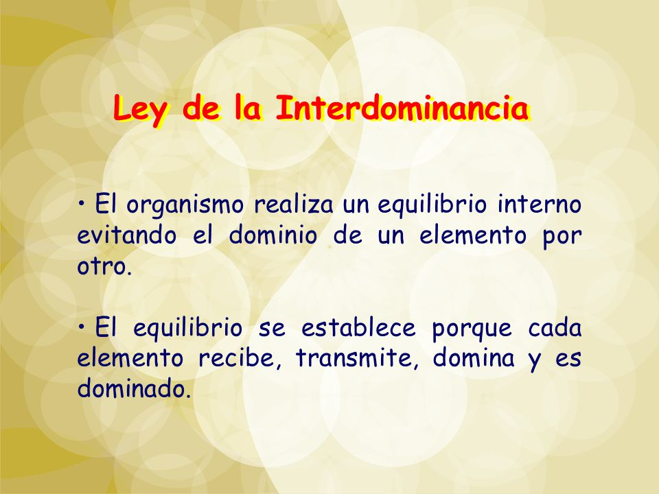 Ley de la Interdominancia