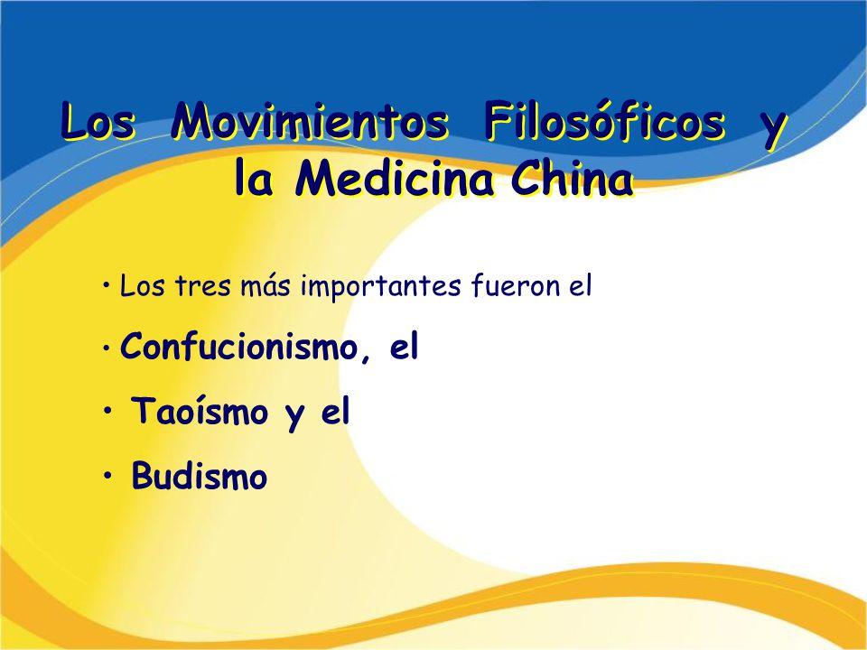 Los Movimientos Filosóficos y la Medicina China