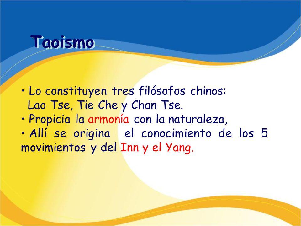 Taoismo Lo constituyen tres filósofos chinos: