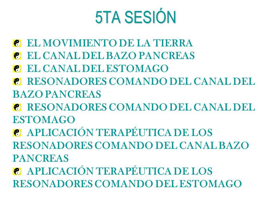 5TA SESIÓN EL MOVIMIENTO DE LA TIERRA EL CANAL DEL BAZO PANCREAS